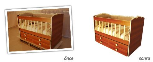 Dekupe örnekleri öncesi ve sonrası